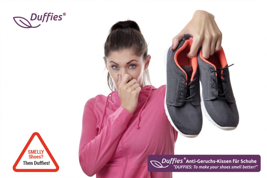 DUFFIES®: A quick & effective solution in case of smelly shoes! Its well selected ingredients generate a TRIPLE EFFECT: