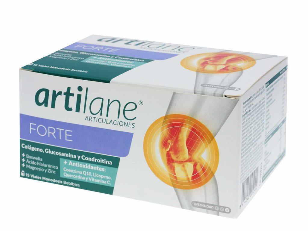 Complemento alimenticio de Artilane que ayuda a combatir la degeneración articular. Elaborado a bae de colágeno hidrolizado y ácido hialurónico que contribuyen a la regeneración del cartílago y el líquido sinovial. Bloquea las reacciones oxidativas gracias a el licopeno, la quercetina y la vitamina C. Enriquecido con Q10, magnesio y zinc. Reduce la fatiga asociada. OPINIÓN FARMACEÚTICA Para notar unos resultados óptimos se recomienda tomarlo entre 2 y 5 meses.
